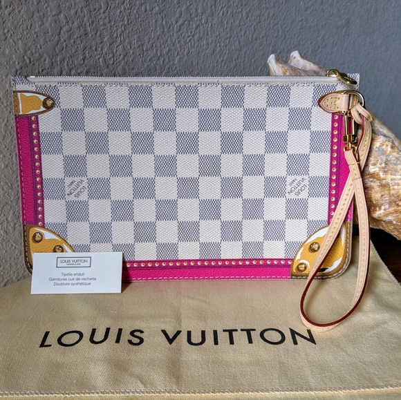 Louis Vuitton Handbags - LV Neverfull Pouch Damier Azur Summer Trunks LE